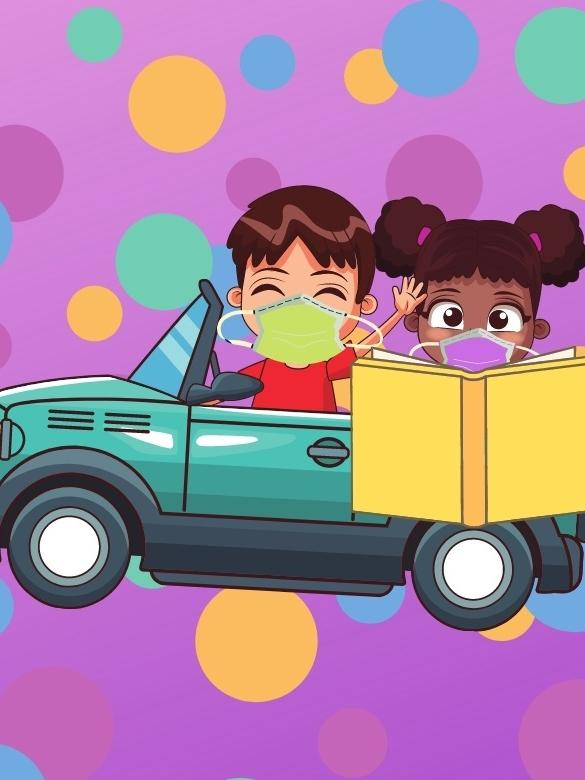 Wednesday Tale-gating, image of kids in a car